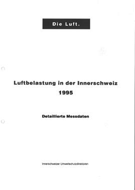 Titelbild Luftbelastung in der Innerschweiz, 1995