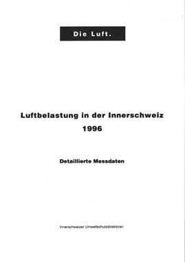 Titelbild Luftbelastung in der Innerschweiz, 1996