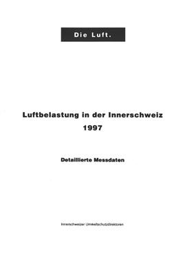 Titelbild Luftbelastung in der Innerschweiz, 1997