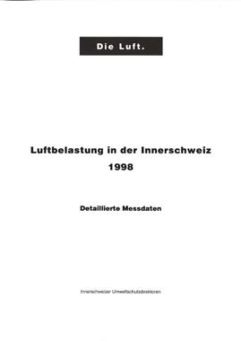 Titelbild Luftbelastung in der Innerschweiz, 1998