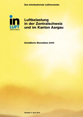 Titelbild Detaillierte Messdaten Ausgabe 2003