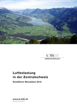 Titelbild Detaillierte Messdaten Ausgabe 2012
