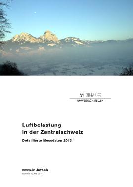 Titelbild Detaillierte Messdaten Ausgabe 2013