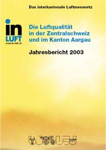 Titelbild Jahresbericht Ausgabe 2003