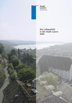 Titelbild Luftqualität in der Stadt Luzern 2005