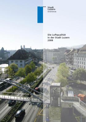 Titelbild Luftqualität in der Stadt Luzern 2008