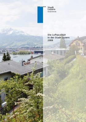 Titelbild Luftqualität in der Stadt Luzern 2009