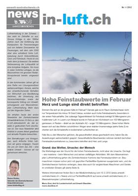 Titelbild news von umwelt-zentralschweiz.ch (Nr. 1/2012)