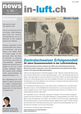 Titelbild news von umwelt-zentralschweiz.ch (Nr. 2/2014)