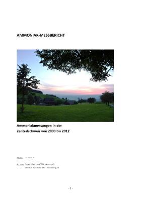 Titelbild Ammoniak-Messbericht 2000 bis 2012