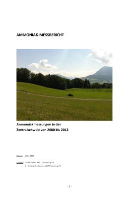 Titelbild Ammoniak-Messbericht 2000 bis 2013