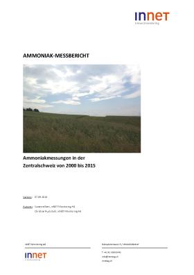 Titelbild Ammoniak-Messbericht 2000 bis 2015