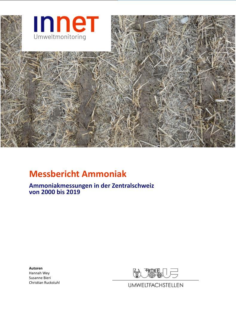 Titelbild Ammoniak-Messbericht 2000 bis 2019