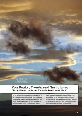 Titelbild Von Peaks, Trends und Turbulenzen. Die Luftbelastung in der Zentralschweiz 1988 bis 2012.