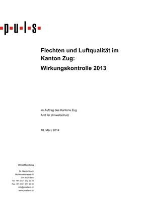 Titelbild Flechten und Luftqualität im Kanton Zug