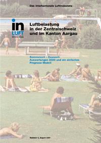 Titelbild Ozonbericht Ausgabe 2000