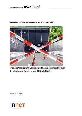 Titelbild Russmessung Luzern Moosstrasse