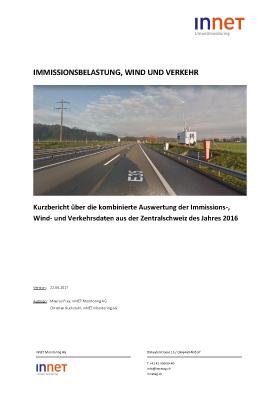 Titelbild Immissonsbelastung, Wind und Verkehr